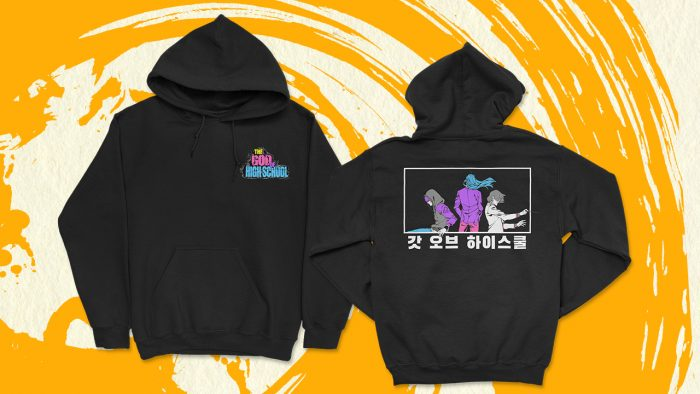 """16x9_black-hoodie_GOH-700x394 Crunchyroll Launches Streetwear Collection for """"The God of High School""""!"""