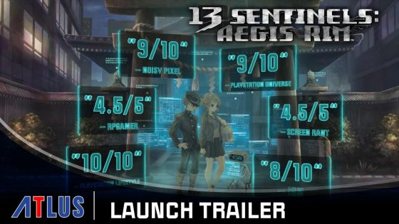13-Sentinels-Launch-Trailer-Still-560x315 13 Sentinels: Aegis Rim Is Out Today For PlayStation 4!