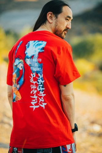 Aoki-110-333x500 Superstar DJ Steve Aoki Launches Limited Edition Naruto Apparel Collection!
