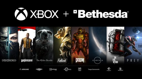 XBOX-Bethesda-560x315 Microsoft to Acquire ZeniMax Media and its Game Publisher Bethesda Softworks for $7.5 billion!