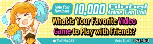 [Honey's Anime Fan Poll Results!] What Is Your Favorite Video Game to Play With Friends?