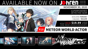 Johren Launches Cyber Monday Sale for All Premium Visual Novel Games, Releases New Title, Offers Some for Free!