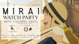 """MIRAI"" Celebrates North American Anniversary with a Watch Party  on November 20th as Part of Anime NYC Online!"