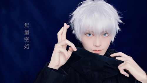 Cosplayer Infectious Taruki Completely Nails Blue-Eyed Gojo Satoru from Jujutsu Kaisen!