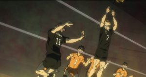 Highlights of the Battle Between Crazy Duos - Karasuno vs Inarizaki (Haikyu!! To the Top 2nd Season)