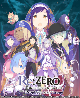 REZ_324x400-update_r2 Re:ZERO -Starting Life in Another World- The Prophecy of the Throne Now Available for North America!