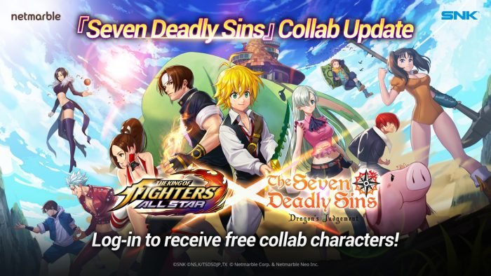"""KOF-ALLSTAR-Seven-deadly-sins-700x394 THE KING OF FIGHTERS ALLSTAR Joins Forces With Heroes From """"The Seven Deadly Sins: Judgement of Fury"""" in New Collaboration"""