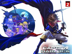 ABLAZE Announces New SPACE PIRATE CAPTAIN HARLOCK Variant Covers, Series Launches in June