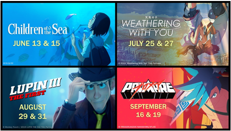 """GKIDS-theaters-2021 Tickets on Sale Now for """"Children of the Sea,"""" """"Weathering with You"""" """"Lupin III: The First,"""" and """"Promare"""" Theatrical Event Series"""