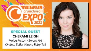 [Honey's Anime Interview] Voice Actress Cherami Leigh Answered Our Questions Before Her Virtual Crunchyroll Panels this Weekend!
